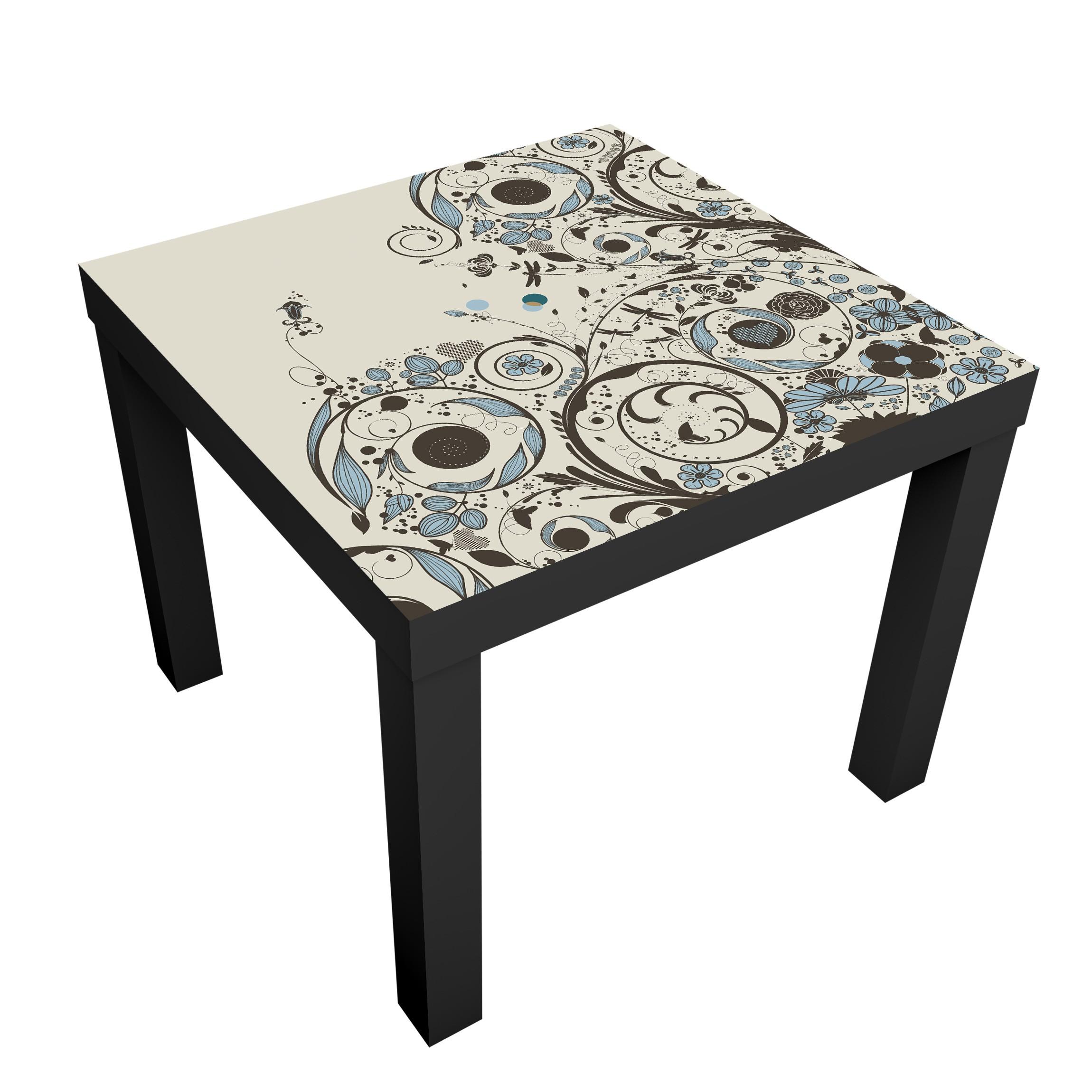 m belfolie f r ikea lack klebefolie vintage meadow. Black Bedroom Furniture Sets. Home Design Ideas