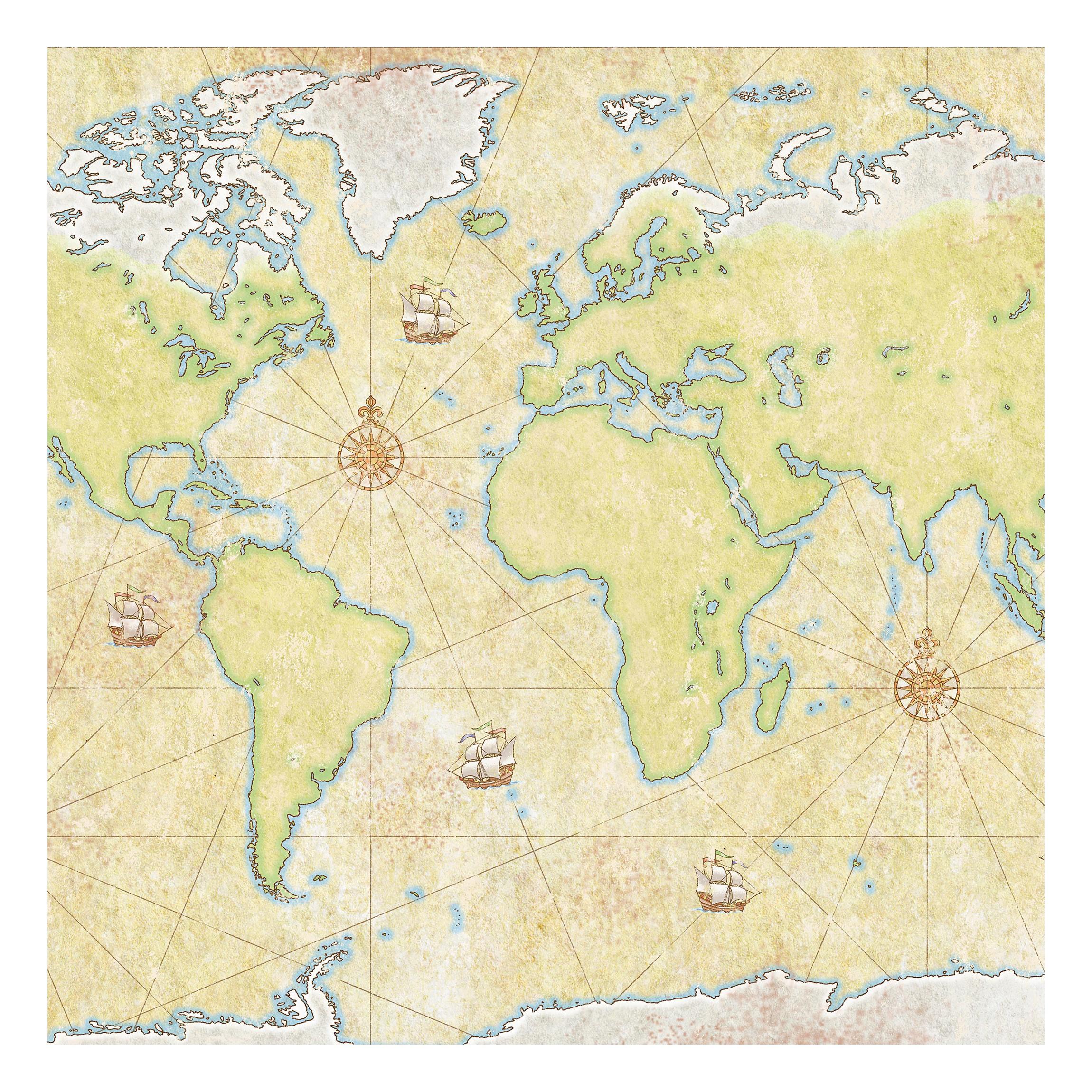 Möbelfolie für IKEA Lack - Klebefolie World Map