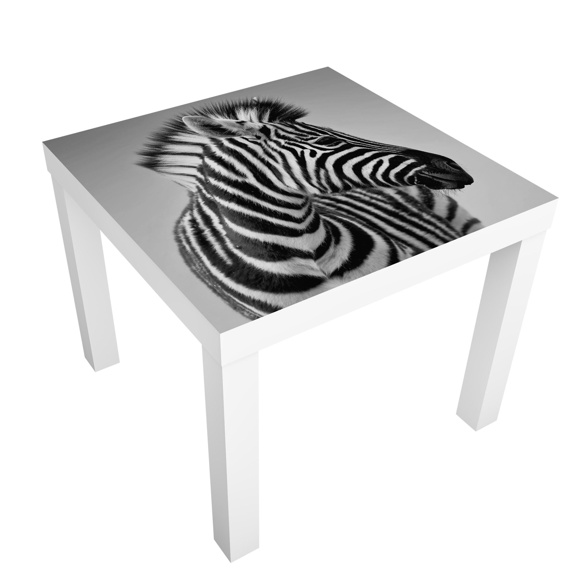 Furniture Decal For Ikea Lack Table Zebra Baby Portrait Ii