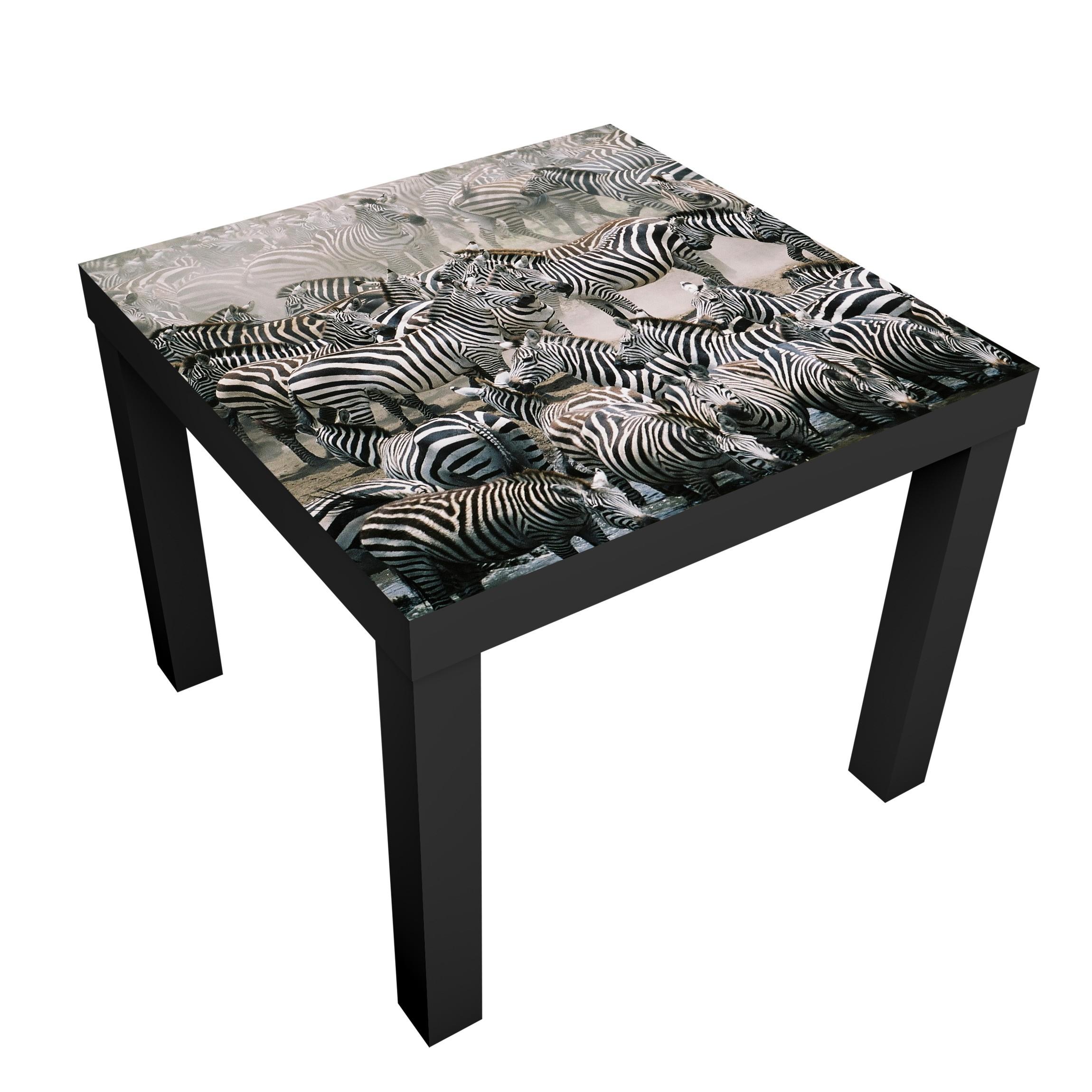 Carta adesiva per mobili ikea lack tavolino zebra herd - Carta per foderare mobili ...