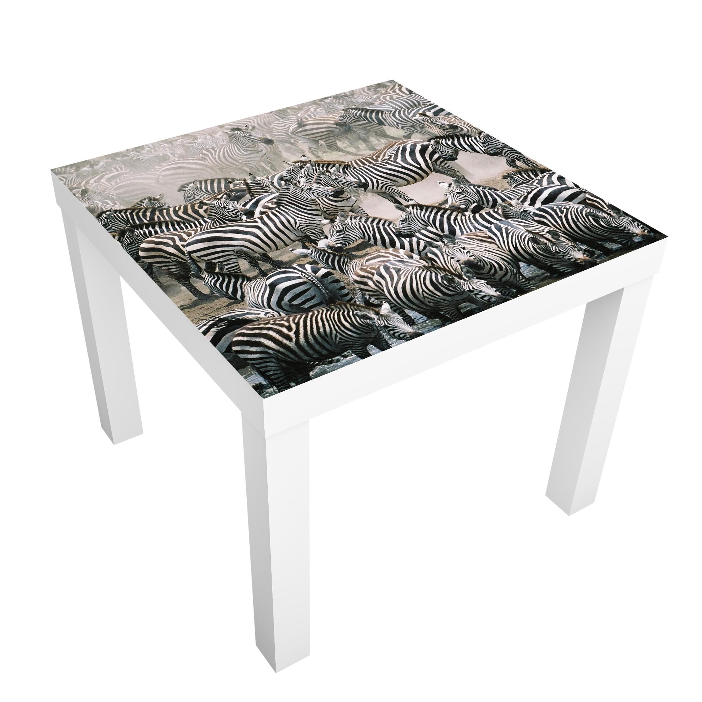 Carta adesiva per mobili ikea lack tavolino zebra herd - Lack tavolino ikea ...