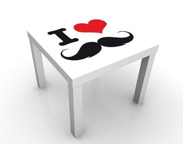 Product picture Design Tisch no.YK25 I Love Moustache