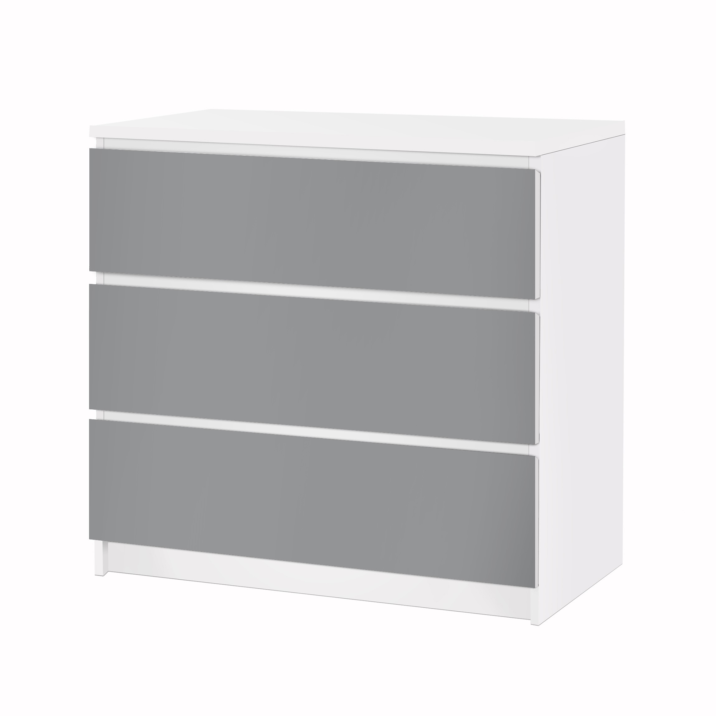 m belfolie f r ikea malm kommode klebefolie colour cool grey. Black Bedroom Furniture Sets. Home Design Ideas