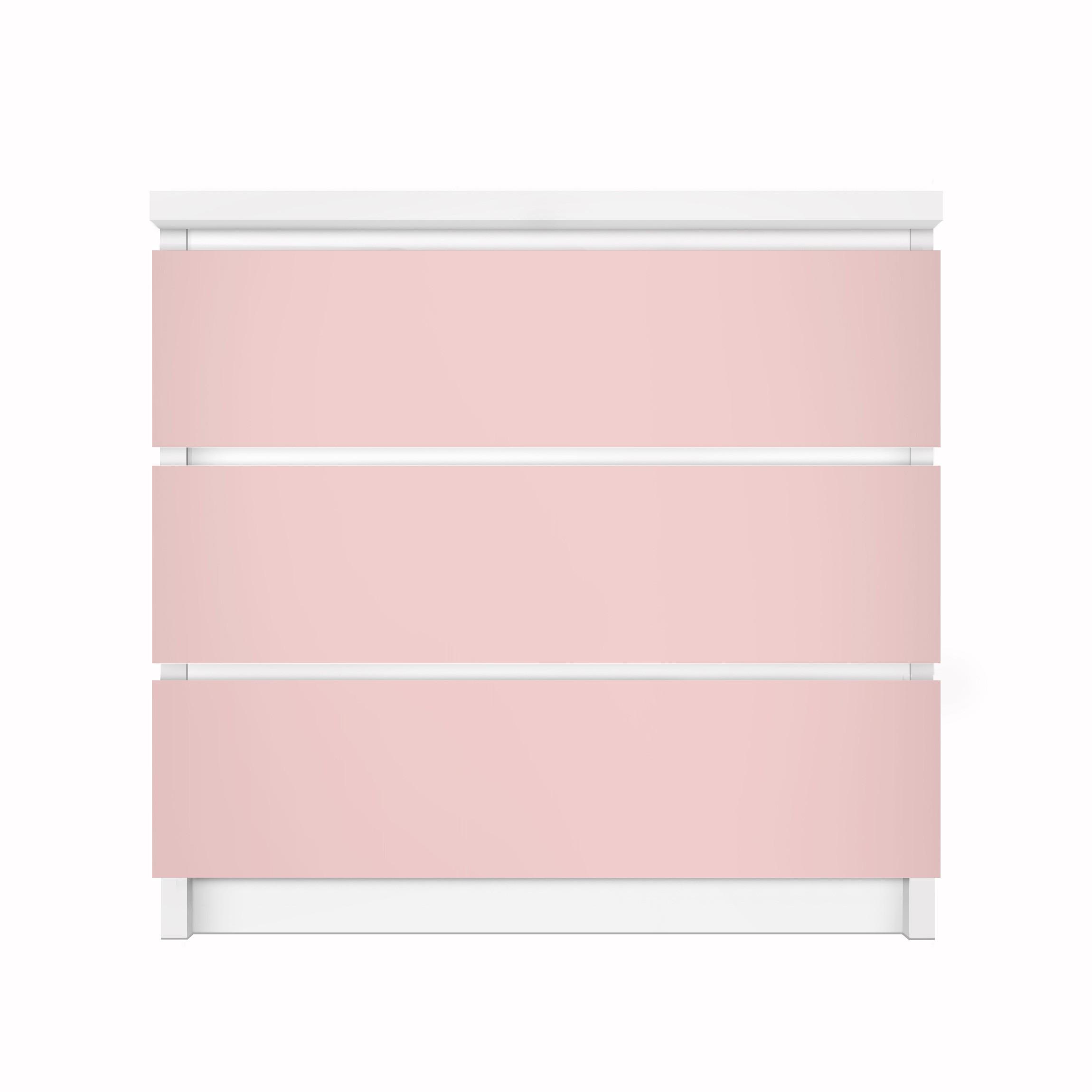 Carta adesiva per mobili ikea malm cassettiera 3xcassetti colour rose - Pellicola adesiva per mobili ikea ...