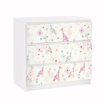 Immagine del prodotto Carta adesiva per mobili IKEA - Malm Cassettiera 3xCassetti - Dreaming Giraffe