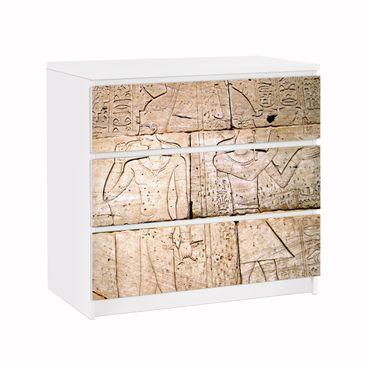 Produktfoto Möbelfolie für IKEA Malm Kommode - Klebefolie Egypt Relief