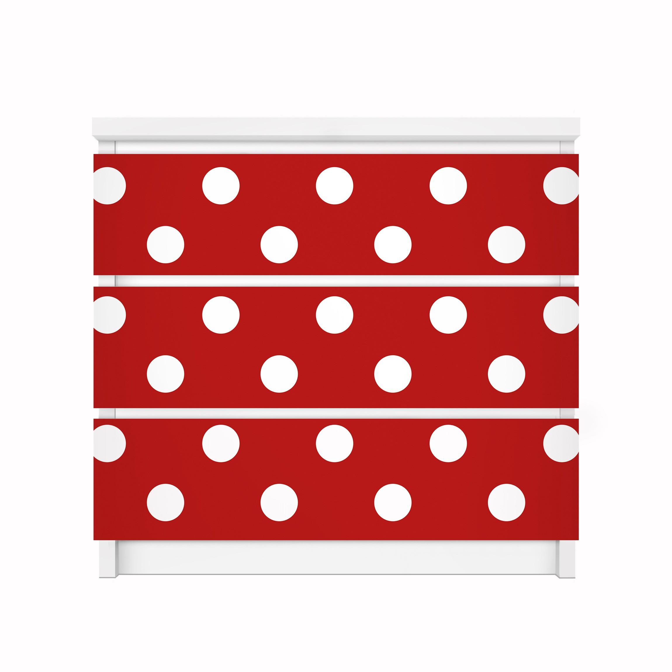 m belfolie f r ikea malm kommode klebefolie no ds92 punktdesign girly rot. Black Bedroom Furniture Sets. Home Design Ideas