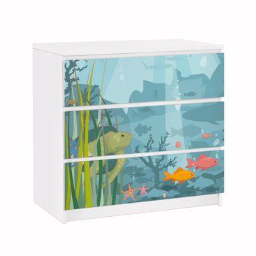 Produktfoto Möbelfolie für IKEA Malm Kommode - Klebefolie No.EK57 Meereslandschaft