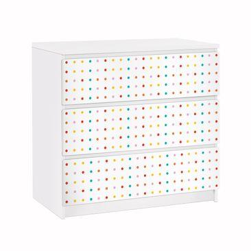 Produktfoto Möbelfolie für IKEA Malm Kommode - Klebefolie No.UL748 Little Dots