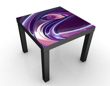 Produktfoto Design Tisch schwarz - Circles in Purple...