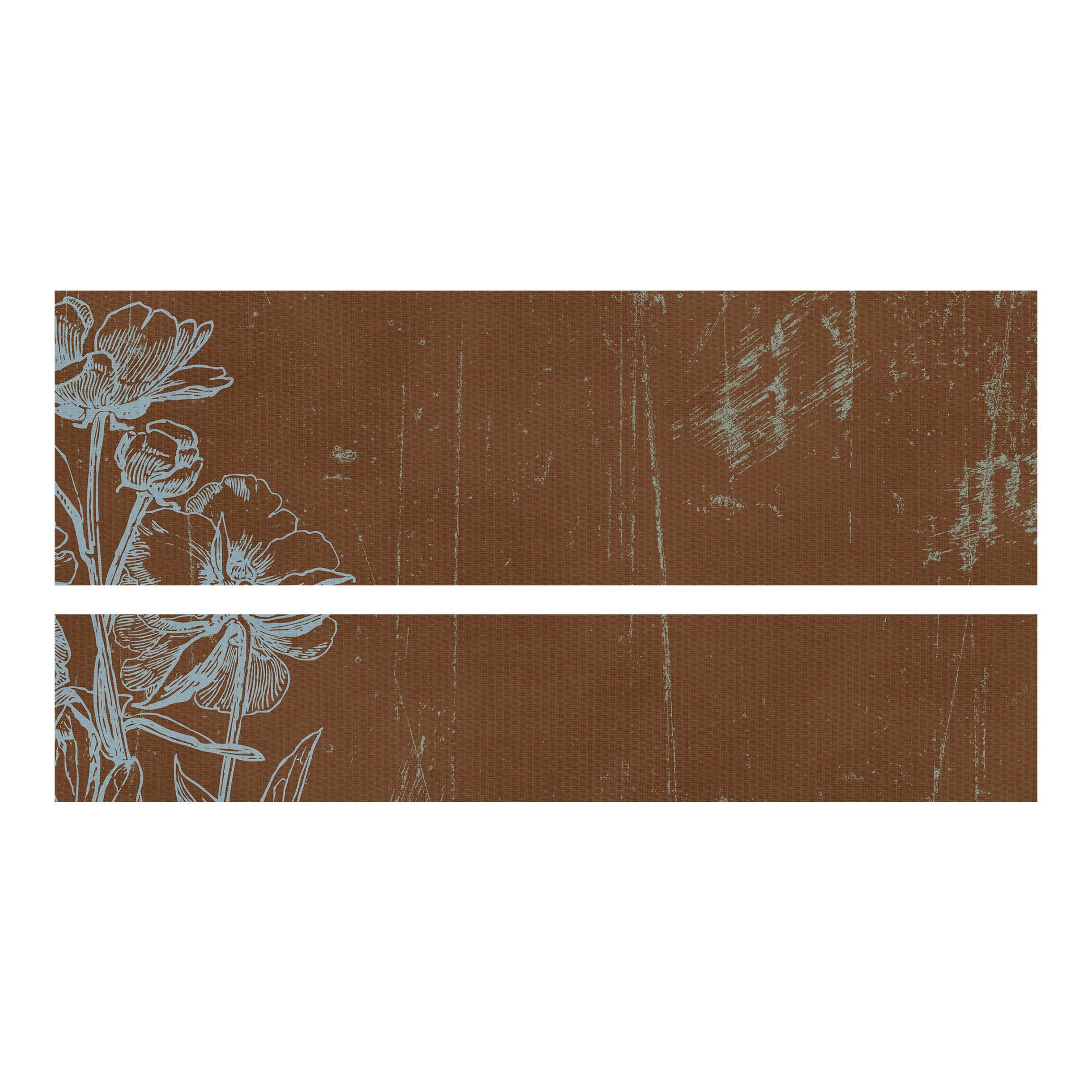 Carta adesiva per mobili ikea malm letto basso 140x200cm blue flowers sketch - Carta adesiva per mobili ikea ...