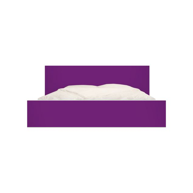 Produktfoto Möbelfolie für IKEA Malm Bett niedrig 140x200cm - Klebefolie Colour Purple