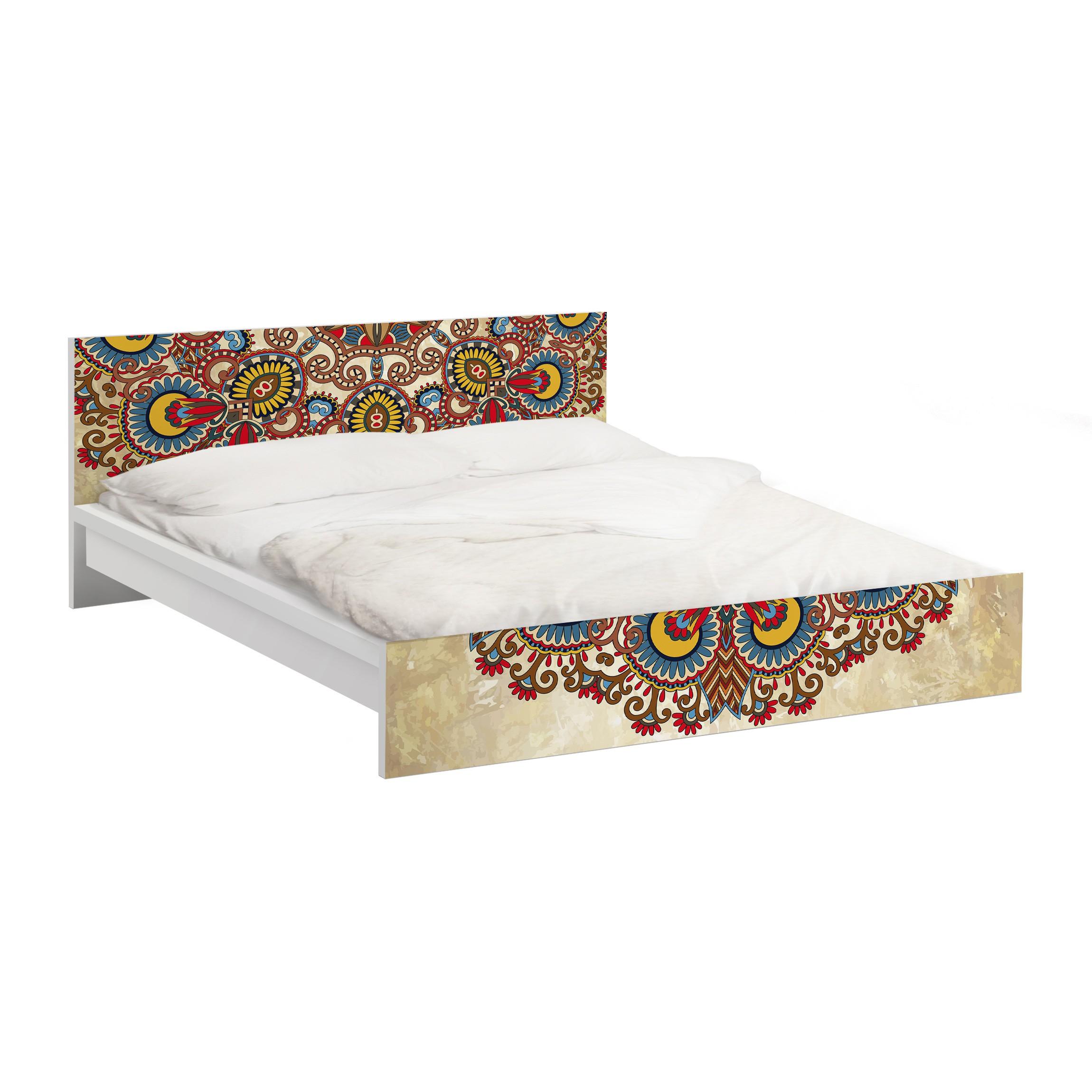 Carta adesiva per mobili ikea malm letto basso 140x200cm coloured mandala - Carta adesiva per mobili ikea ...