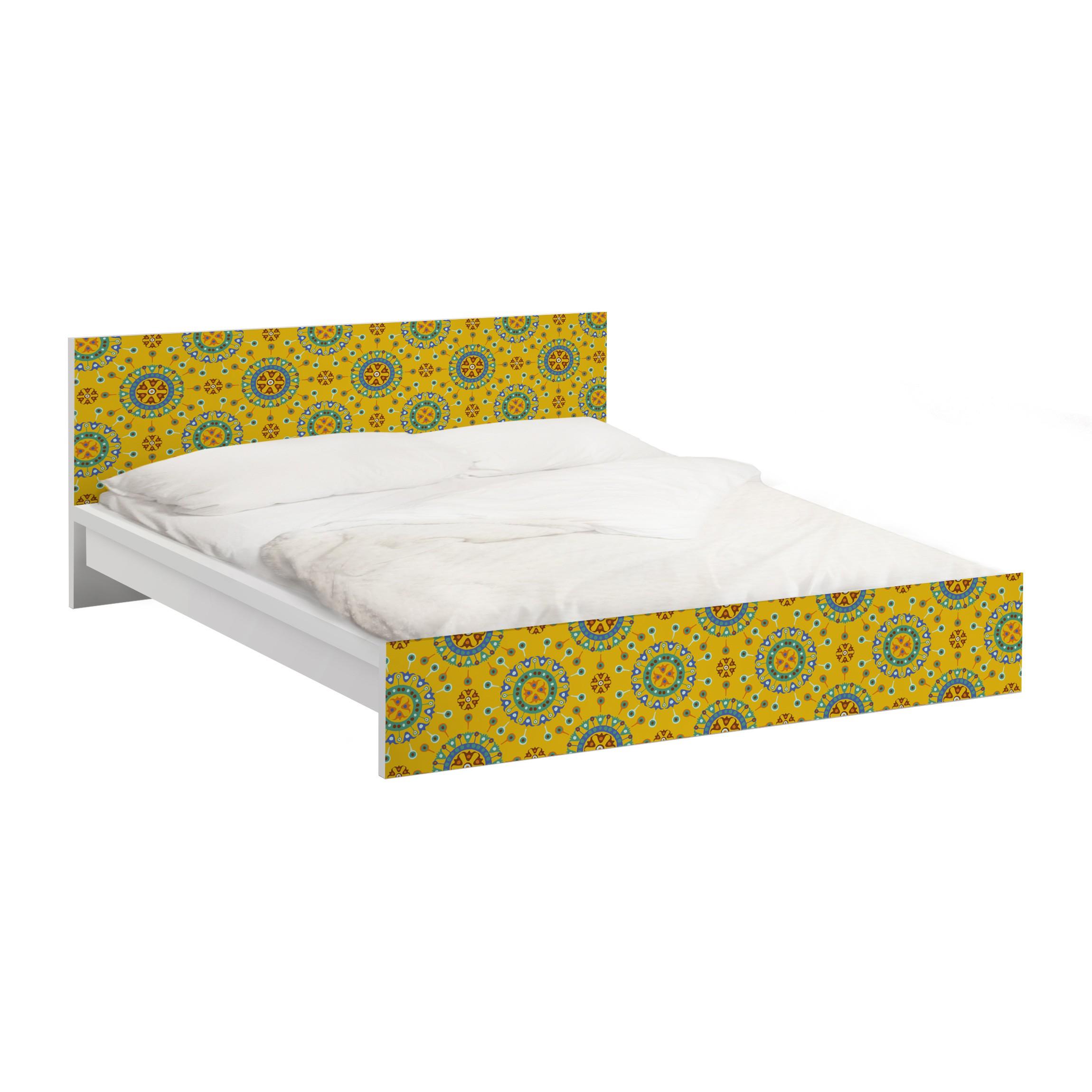 m belfolie f r ikea malm bett niedrig 140x200cm klebefolie wayuu design. Black Bedroom Furniture Sets. Home Design Ideas