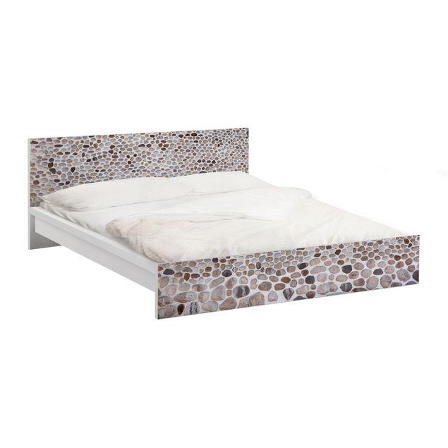 m belfolie f r ikea malm bett niedrig 160x200cm klebefolie andalusische steinmauer. Black Bedroom Furniture Sets. Home Design Ideas