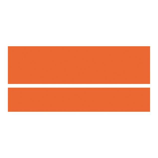 Produktfoto Möbelfolie für IKEA Malm Bett niedrig 160x200cm - Klebefolie Colour Orange