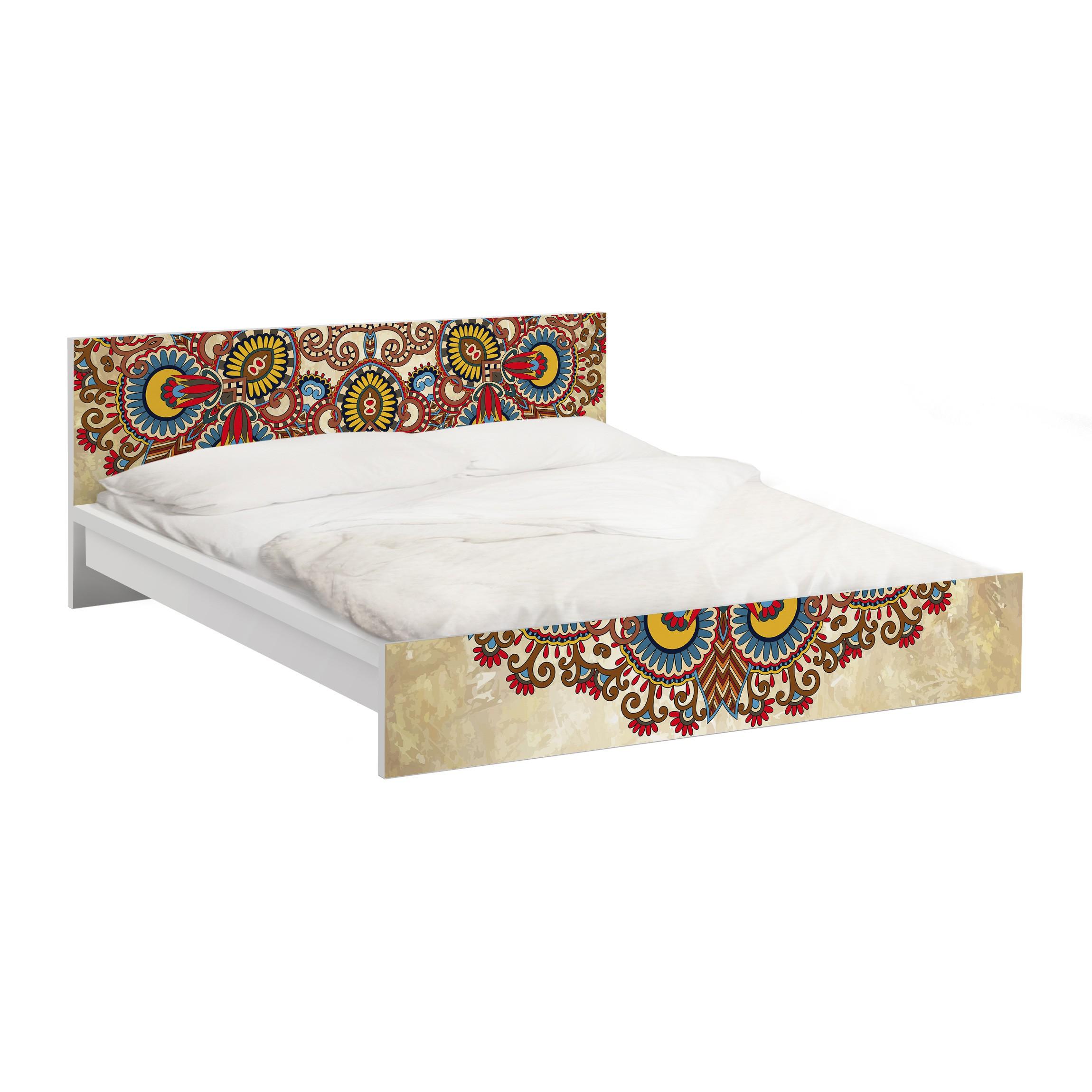 Carta adesiva per mobili ikea malm letto basso 160x200cm coloured mandala - Mobili letto ikea ...