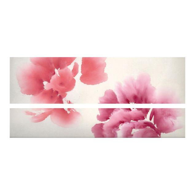 Produktfoto Möbelfolie für IKEA Malm Bett niedrig 160x200cm - Klebefolie Künstlerische Flora II