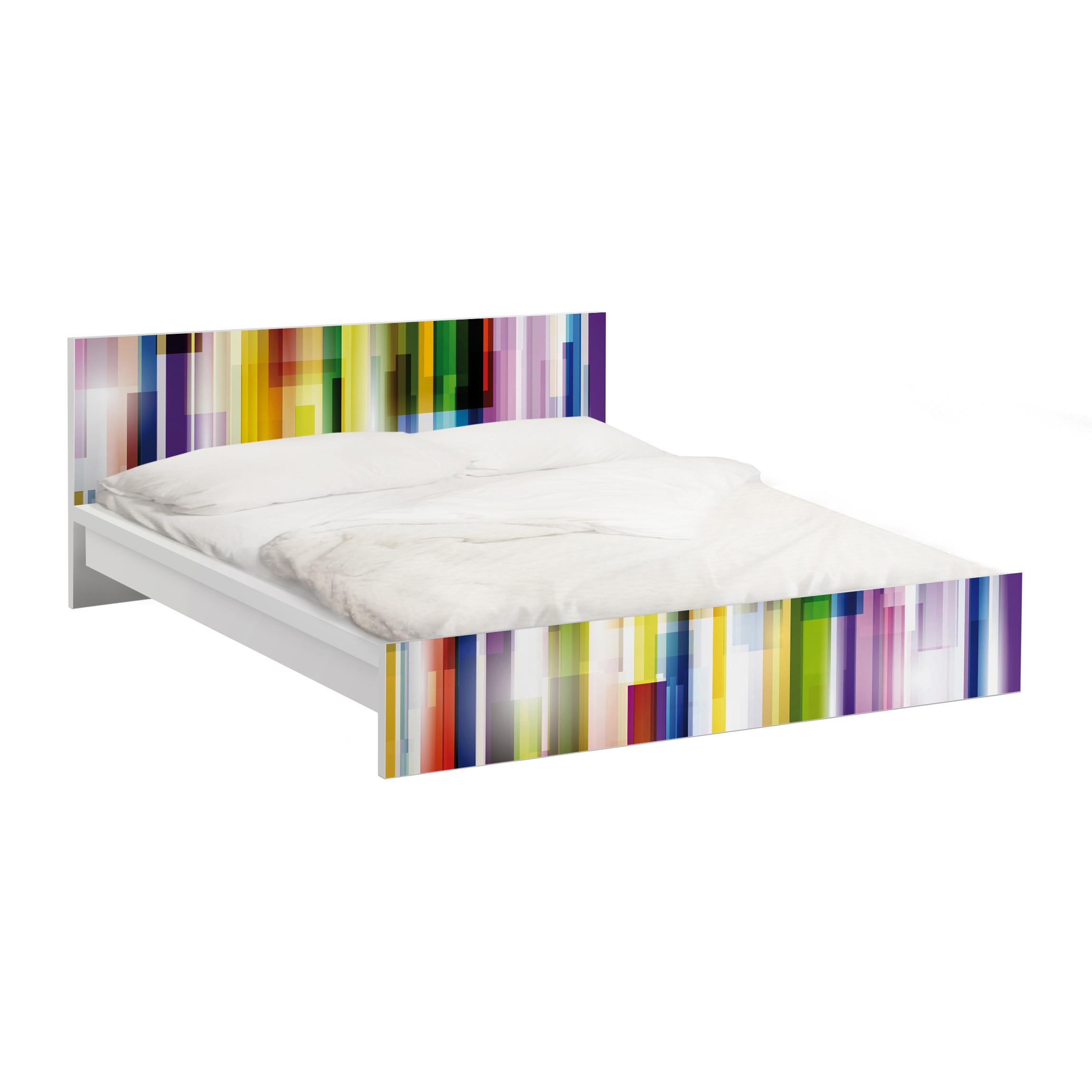 m belfolie f r ikea malm bett niedrig 160x200cm klebefolie rainbow cubes. Black Bedroom Furniture Sets. Home Design Ideas