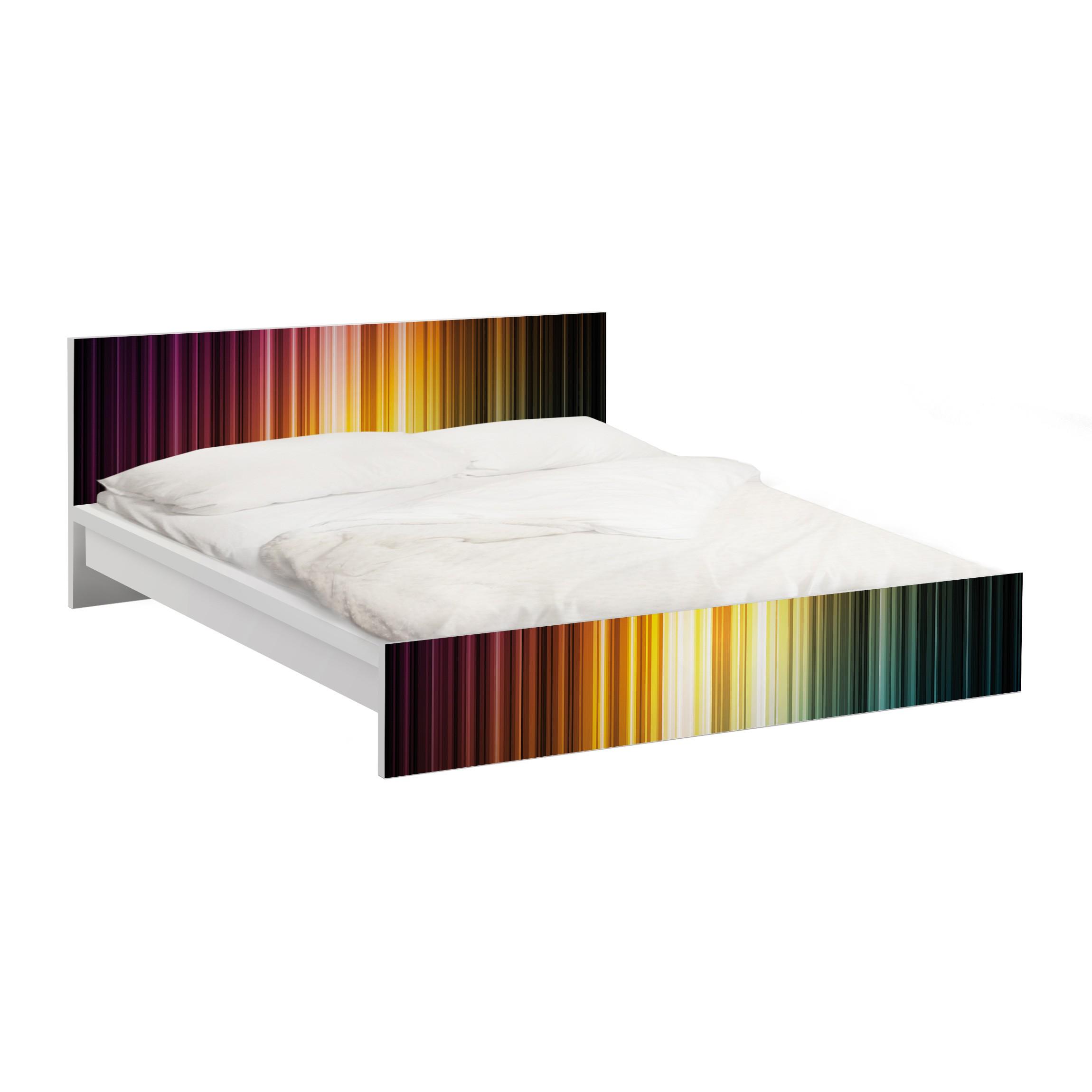 Carta adesiva per mobili ikea malm letto basso 160x200cm rainbow light - Pellicola adesiva per mobili ikea ...