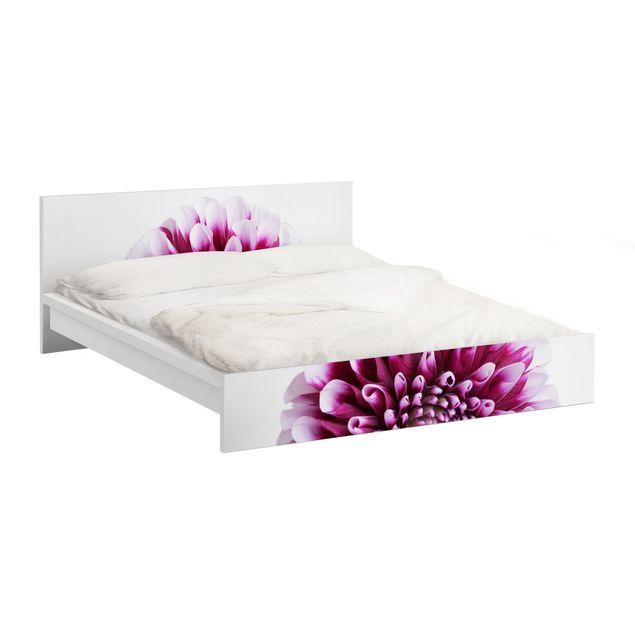 Produktfoto Möbelfolie für IKEA Malm Bett niedrig 180x200cm - Klebefolie Aster