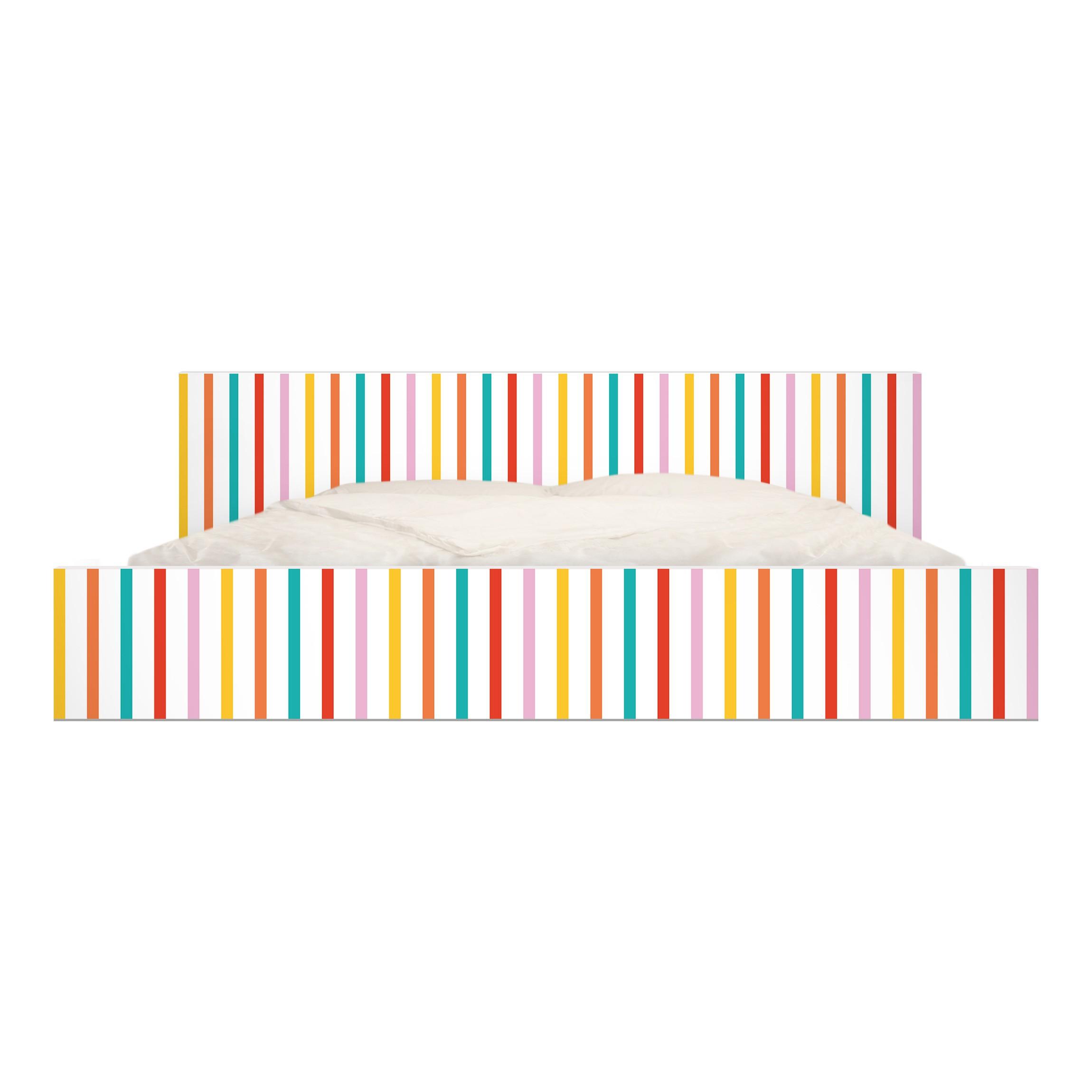 Carta adesiva per mobili ikea malm letto basso 180x200cm no ul750 stripes - Carta per coprire mobili ...