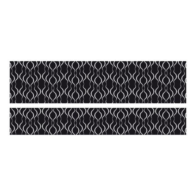 m belfolie f r ikea malm bett niedrig 180x200cm klebefolie punktmuster in schwarz. Black Bedroom Furniture Sets. Home Design Ideas