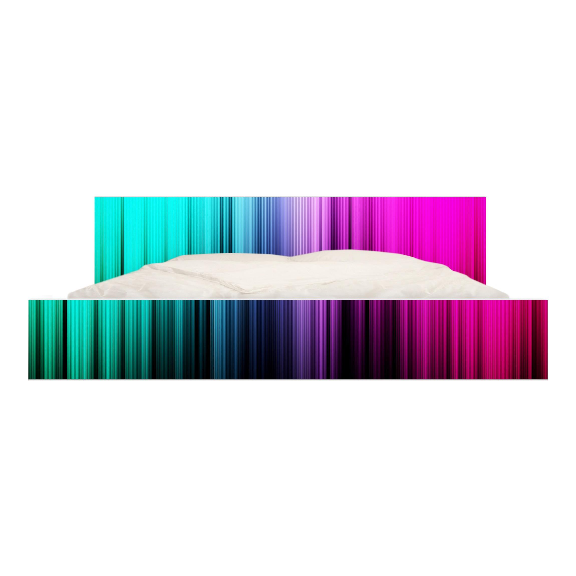 Carta adesiva per mobili ikea malm letto basso 180x200cm rainbow display - Carta adesiva colorata per mobili ...