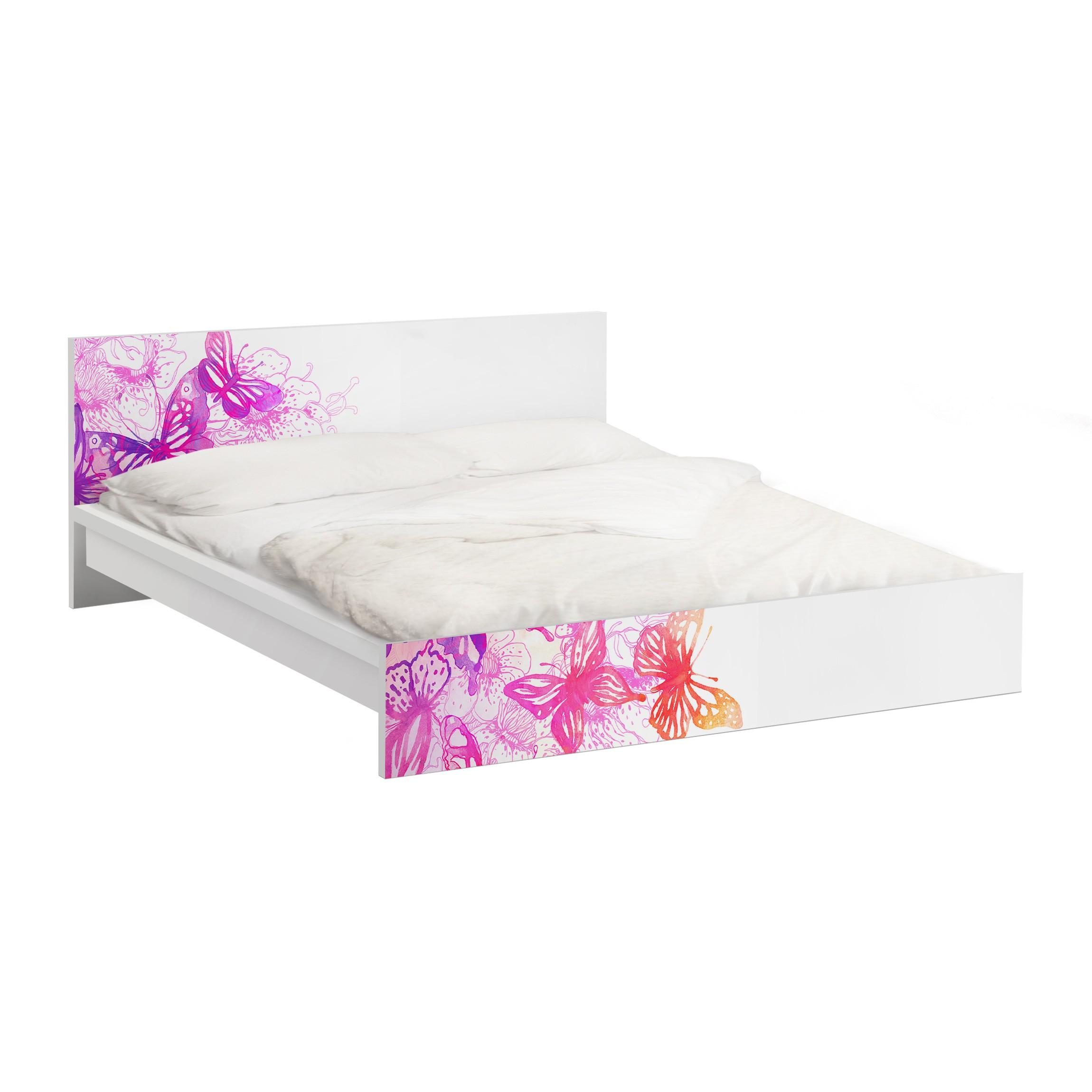 Carta adesiva per mobili ikea malm letto basso 180x200cm butterfly dream - Pellicola adesiva per mobili ikea ...