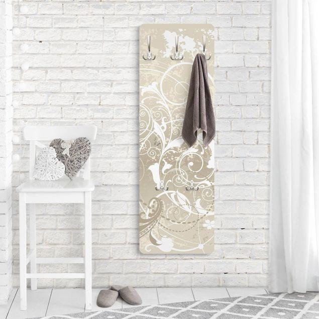 Produktfoto Garderobe - Perlmutt Ornament Design - Weiß Beige