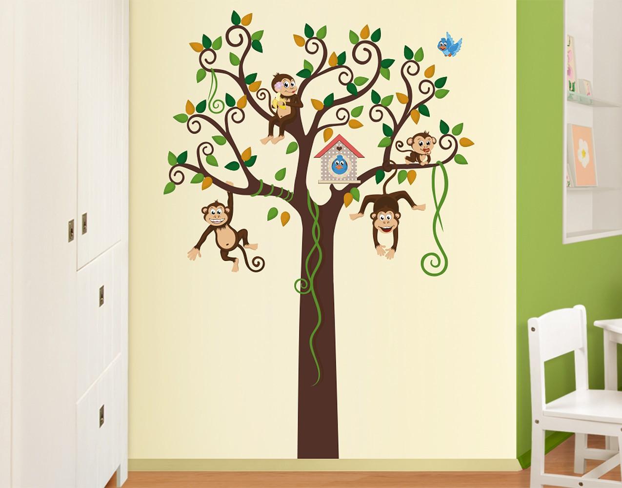 Wandtattoo Babyzimmer No Yk27 Affenbaum