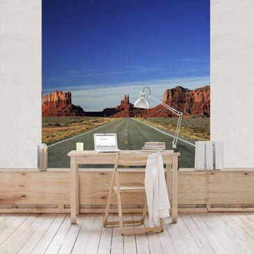 Produktfoto 3D Fototapete - Monument Valley - Vliestapete Quadrat