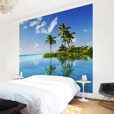 Product picture Non-woven Wallpaper- Tropical paradise -...