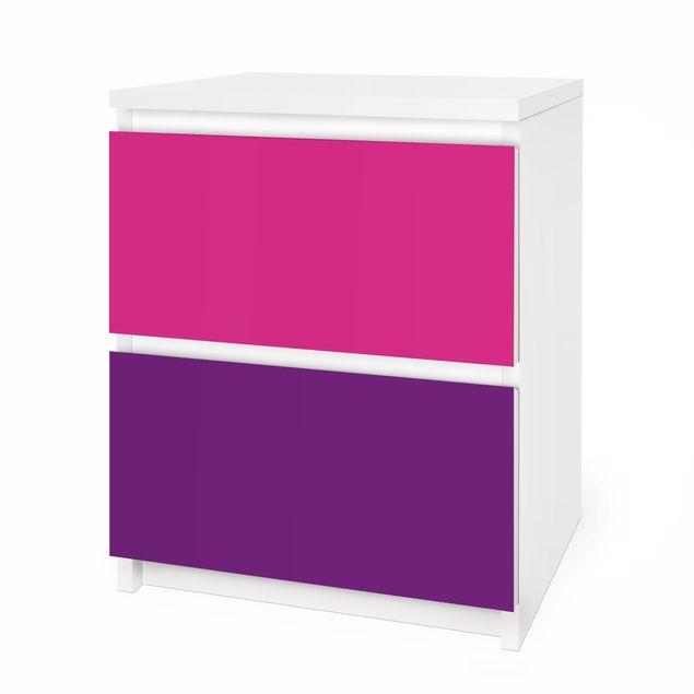 Produktfoto Möbelfolie für IKEA Malm Kommode - Selbstklebefolie Set Girly