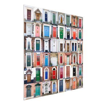 Produktfoto Forex Fine Art Print - Wandbild 100 Türen - Quadrat 1:1