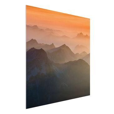 Produktfoto Forex Fine Art Print - Wandbild Blick von der Zugspitze - Quadrat 1:1