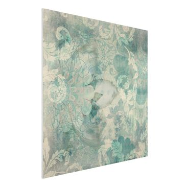 Produktfoto Forex Fine Art Print - Wandbild Eisblumen - Quadrat 1:1