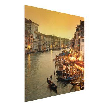 Produktfoto Forex Fine Art Print - Wandbild Großer Kanal von Venedig - Quadrat 1:1