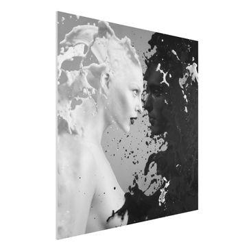 Produktfoto Forex Fine Art Print - Wandbild Milk & Coffee II - Quadrat 1:1