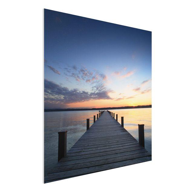 Produktfoto Forex Fine Art Print - Wandbild Ort der Ruhe - Quadrat 1:1