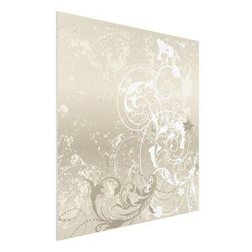 Produktfoto Forex Fine Art Print - Wandbild Perlmutt Ornament Design - Quadrat 1:1