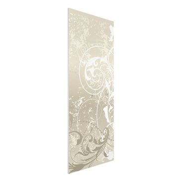 Produktfoto Forex Fine Art Print - Wandbild Perlmutt Ornament Design - Panorama Hoch