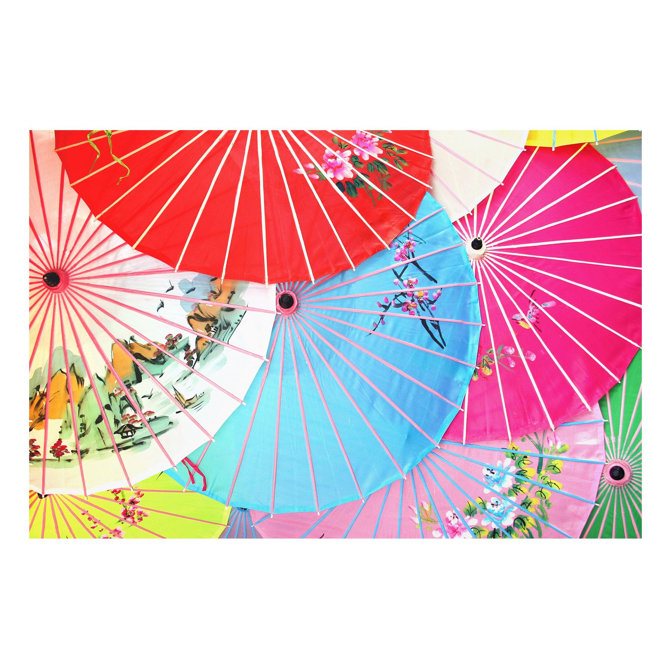 forex fine art print wandbild chinese parasols quer 2 3. Black Bedroom Furniture Sets. Home Design Ideas