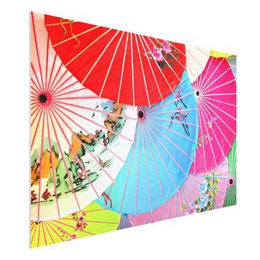 Produktfoto Forex Fine Art Print - Wandbild Chinese Parasols - Quer 2:3