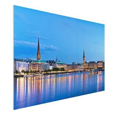 Immagine del prodotto Stampa su Forex - Hamburg skyline - Orizzontale 2:3