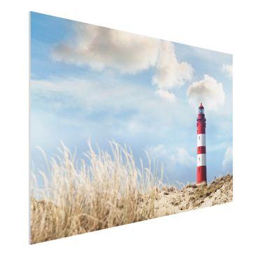 Produktfoto Forex Fine Art Print - Wandbild Leuchtturm in den Dünen - Quer 2:3