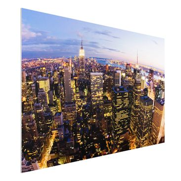 Immagine del prodotto Stampa su Forex - New York Skyline At Night - Orizzontale 2:3