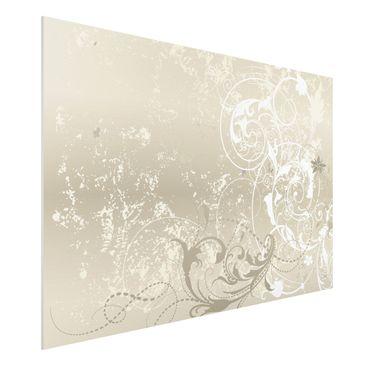 Produktfoto Forex Fine Art Print - Wandbild Perlmutt Ornament Design - Quer 2:3