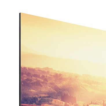 Product picture Aluminium Print - Mural Fiery Siena -...