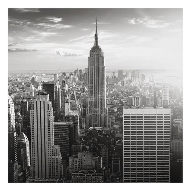 Produktfoto Aluminium Print - Wandbild Manhattan Skyline - Quadrat 1:1